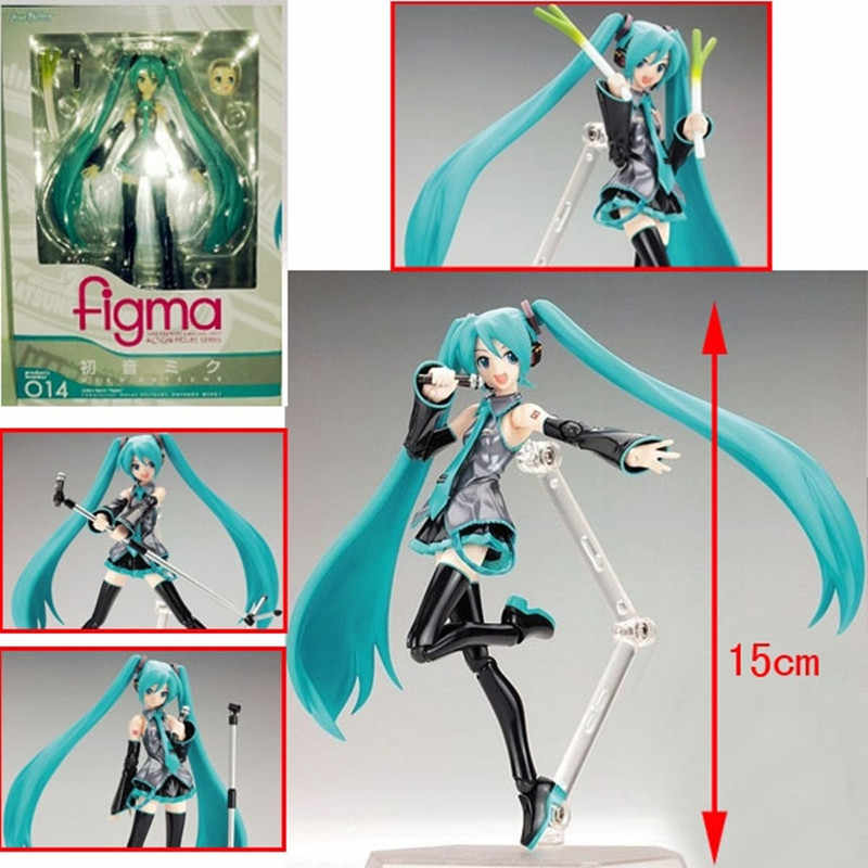 Surwish 15 cm Movable Anime Hatsune Miku Action Figure Modelo Toy Boneca Toy-Azul