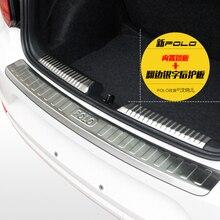 Для VW Volkswagen Polo (GTI) 2011-2018 педаль подоконника багажника покрытие декоративное лощеное покрывало педали рельефная пластина протектор заднего бампера