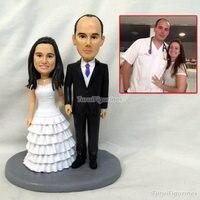 Brinquedos Бесплатная доставка Пользовательские свадебный подарок на день рождения вашего полимерной глины фигурки является мини версия вы на