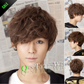 Stunning Synthetic short fluffy curly wig wig for the fairy man heat resistant hair male synthetic wig for man peruca