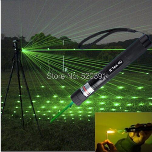 Super Puissant! militaire AAA NOUVEAU 532nm 5 w 5000 mw Vert Rouge Pointeurs Laser Brûlant Matchs & Cigarettes De Légères Brûlures, SD Laser 303