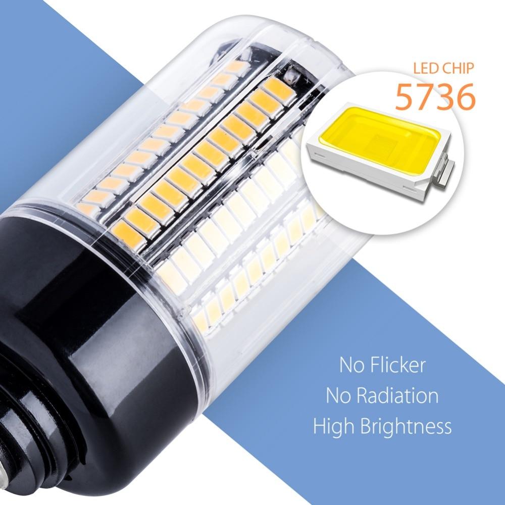 Image 4 - E14 LED Bulb Corn Lamp E27 220V LED Corn Light Bulb 110V Lampada Led Bombillas 5736 Ampoule AC85~265V 3.5W 5W 7W 9W 12W 15W 20W-in LED Bulbs & Tubes from Lights & Lighting
