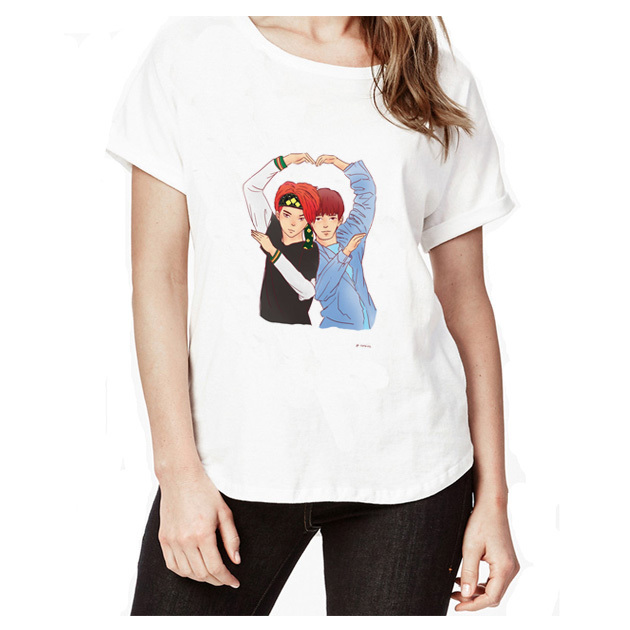 nct T-Shirt womens pattern Printed t shirt Short Sleeve O-Neck t-Shirts Fashion t shirt Hip Hop Top Tees WT2764