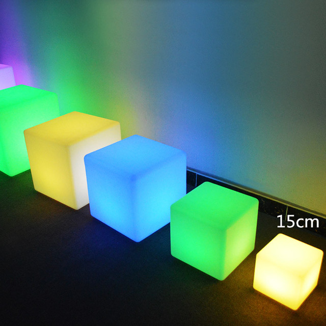 15cm Night Club Outdoor Decoration Party LED Cube/LED Chair/LED Bar Table