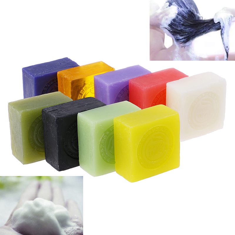 Natural Organic Herbal Essential Oil Soap Whitening Handmade Soap Skin Remove Acne Deep Cleansing Face Hair Care Bath