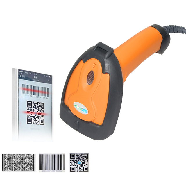 Portable Handheld Laser 2D Barcode Scanner USB QR Code  PDF417 Reader Wired codes scaning for POS sysytem - NT-8099