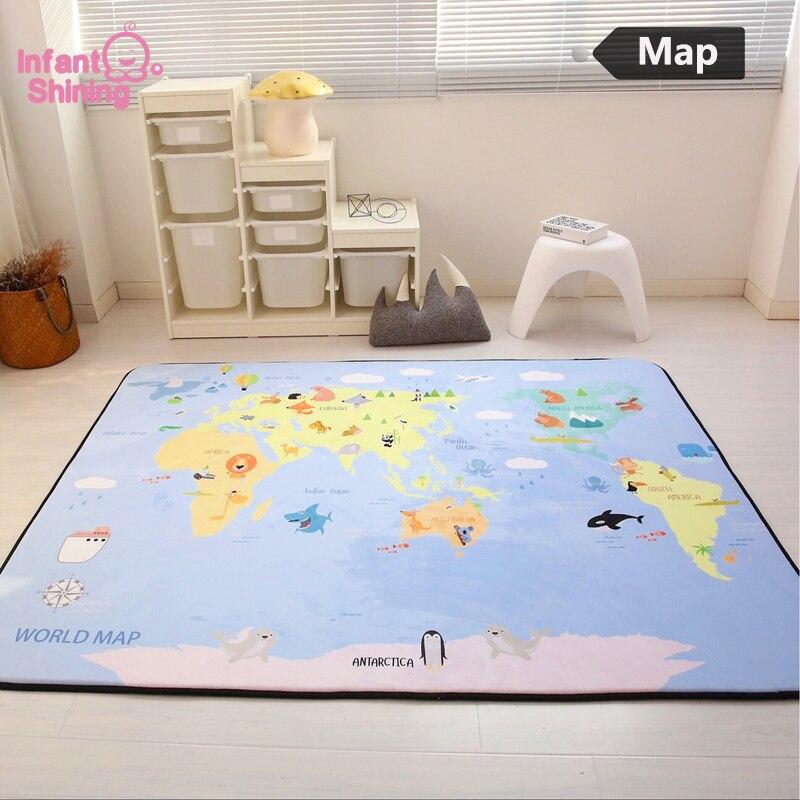 Детский Блестящий игровой коврик, детский коврик для ползания, бархатный ковер, противоскользящий, 150*200*1 см (60*78,7 дюйма), детский коврик для г...