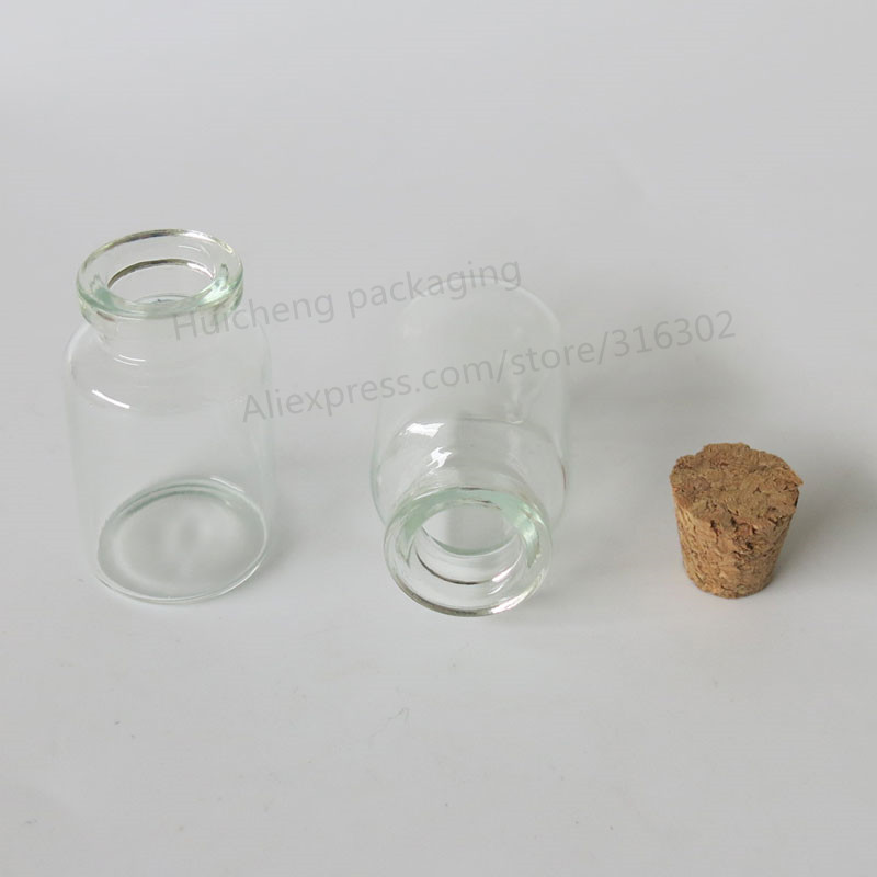 Купить с кэшбэком 50pcs 10ml Mini Glass Bottles Vials Jars With Cork Corks Stopper Decorative Corked Tiny mini Wising Bottle For Pendants