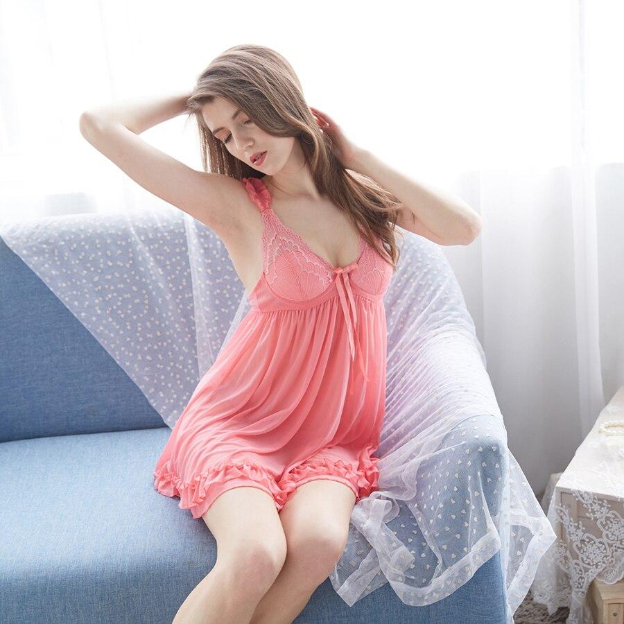 Sexy Lingerie Plus Size Lace Bralette Push Up Bra Set Underwear Women Transparent Nightwear with Thongs Sleepwear Homewear for L