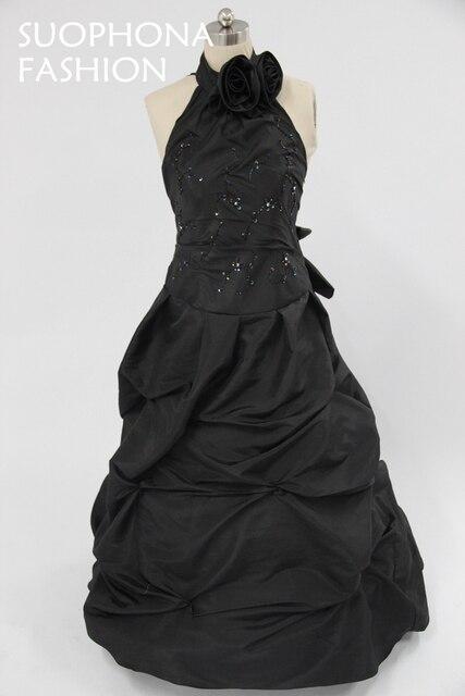 Wholesale Custom made Black Ball gown Evening dress 2018 Saudi ...