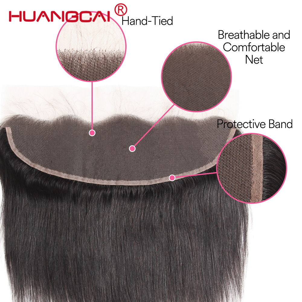 Ear To Ear Lace Frontal Closure Brazilian Straight Human Hair 13x4 Lace Closure With Baby Hair 1Pc/lot Remy Hair 8 To 20 Inch