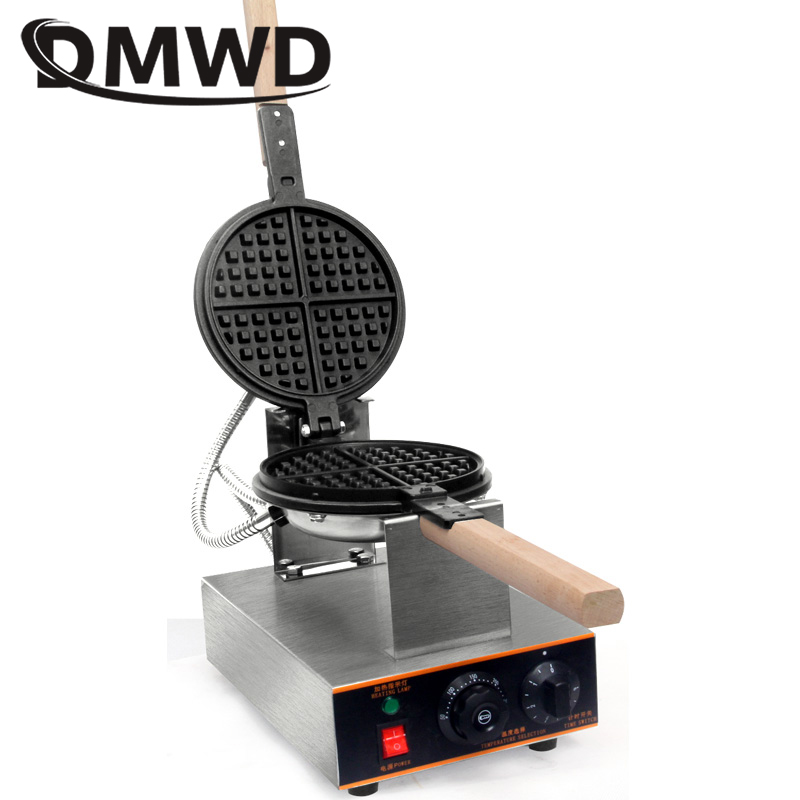 DMWD 220V 110V Commercial Electric Eggettes Puff Egg Waffle Iron Maker Crepe Oven Lattice Cake Breakfast