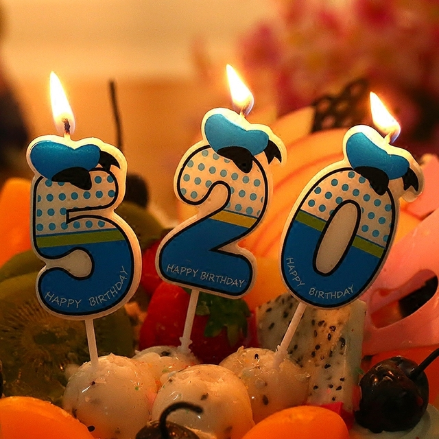 1PCS Cartoon Kids Birthday Cake Cupcake Toppers Candle Candles Party Supplies Wedding Home CA 0017