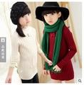 Бесплатная доставка новых осень зима дети теплый свитер с высоким воротником свитер девушка свитер детей