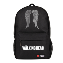 Hot TV The Walking Dead Bag Letter Print School Backpack Boys Girls College Fashion Bags Black Red Blue Color Cosplay Costume