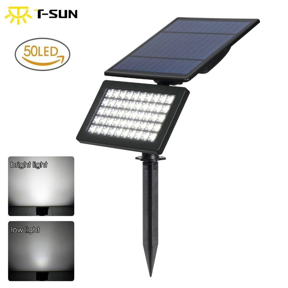 T-SUN 50 LED  5W Solar Garden Light 2 Modes Outdoor Adjustable & Auto ON/OFF Security Lighting For Yard Garden