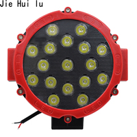 High Quality 7 '' Inch Car Round LED Work Light 12V 24V Power 7 Floot Spot Light For 4x4 Offroad Truck Tractor ATV SUV Driving