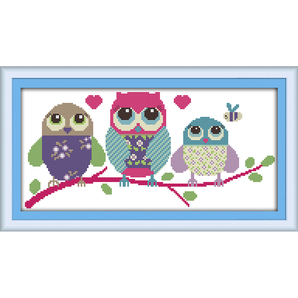 Everlasting love Christmas Cartoon owl Ecological cotton Chinese cross stitch kits counted stamped 11 New store sales promotion