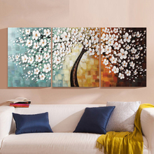 3 Panels 100% Hand Paint Modern Oil Painting Palette Knife Textured Oil painting On Canvas Wall Art Modern Home Decoration