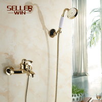 Fashion Antique Gold Cold And Hot Water Bathtub Shower Vintage Teapot Copper 8064c