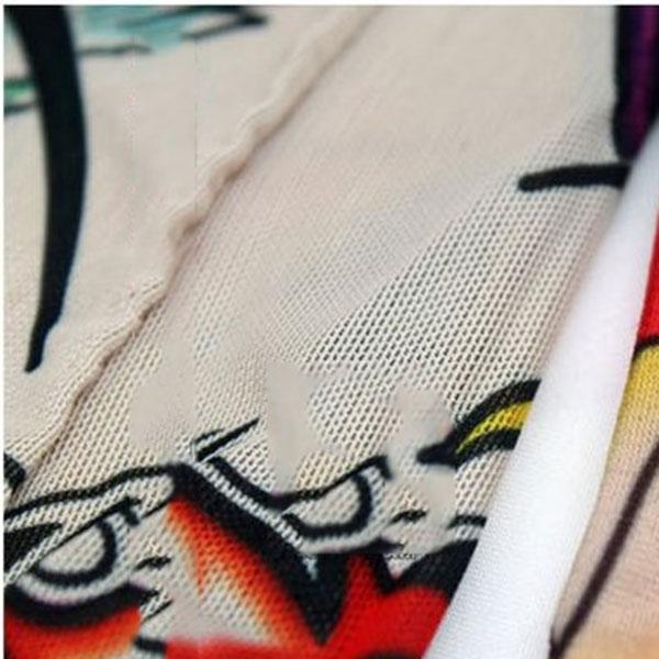 2 Pcs New Nylon Elastic Fake Temporary Tattoo Sleeve Designs Body Arm Stockings Tattoos For Cool Men Women KS-shipping