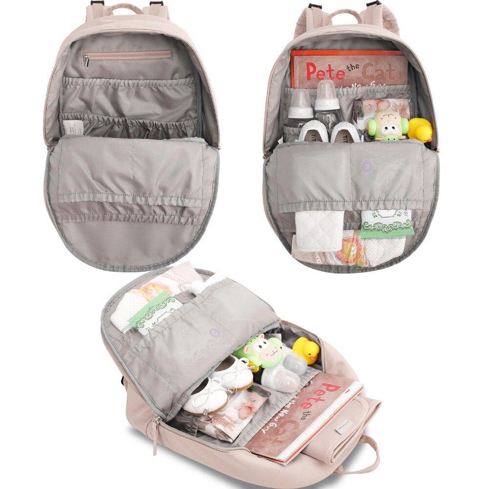 Mommore pequeño moda pañal mochila impermeable viaje bolsa de pañales con cambiador Pad bolsa de enfermería para el cuidado del bebé - 2