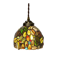 Nordic Design Modern Stained Glass Single LED Hanging Pendant Lamp Light For Kitchen Dining Room Restaurant