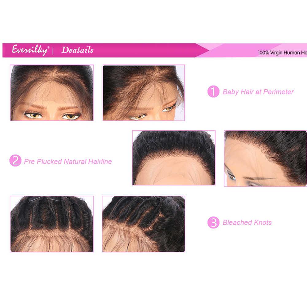 Eversilky плотность 150% короткие натуральные волосы боб парики для Для женщин Ombre 1B/613 блондинка парик Remy бразильский Синтетические волосы на кружеве натуральные волосы парики