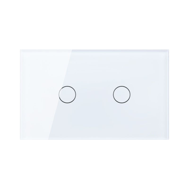 Free Shipping, US AU Standard Touch Switch, 2 Gang 1 Way Control, Crystal Glass Panel,Wall Light Switch,KT002US 3 gang 2 way us au standard smart touch switch crystal glass panel wall light controler