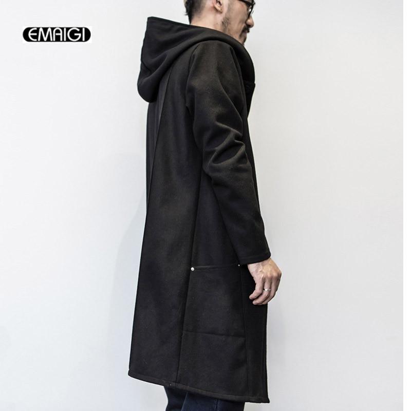 Popular Long Black Jacket Men-Buy Cheap Long Black Jacket Men lots ...