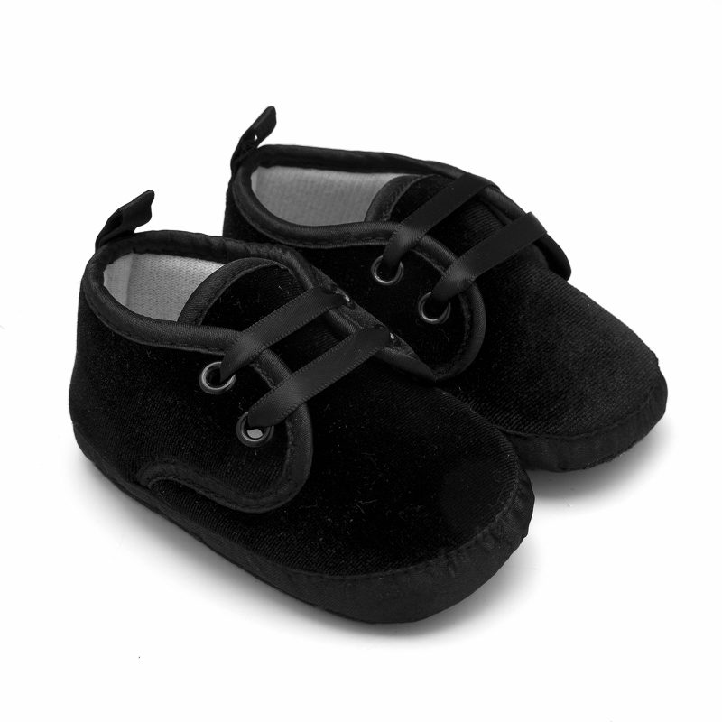 1b94e98fe New Baby Moccasins Schoenen Pram Lace Up Boots Black Sport Shoes For ...