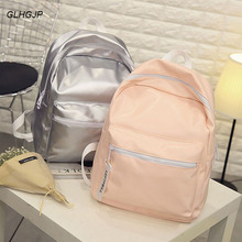 GLHGJP Hologram Laser Backpack For Girl Student Fashion PU Leather Female backpack Preppy Style Holographic Women Rucksack Bolsa недорого