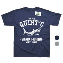 Quints Shark Fish  Inspired by Jaws Movie Printed T-Shirt - 2 Colours Top Tee 100% Cotton Humor Men Crewneck Shirts