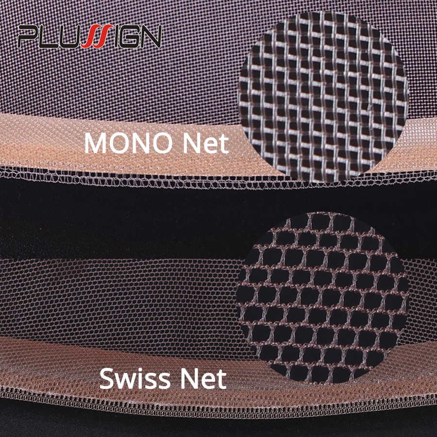 Plussign парик с кружевом спереди для изготовления париков 1 шт./партия регулируемые эластичные волосы сеть снуд швейцарские кружевные Чепчики Невидимые кружева спереди al