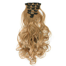 AOSIWIG 24'' Long Curly Synthetic Hair Extension 7pcs/set 16 Clips In On Hair Extensions Heat Resistant Hairpiece(China)