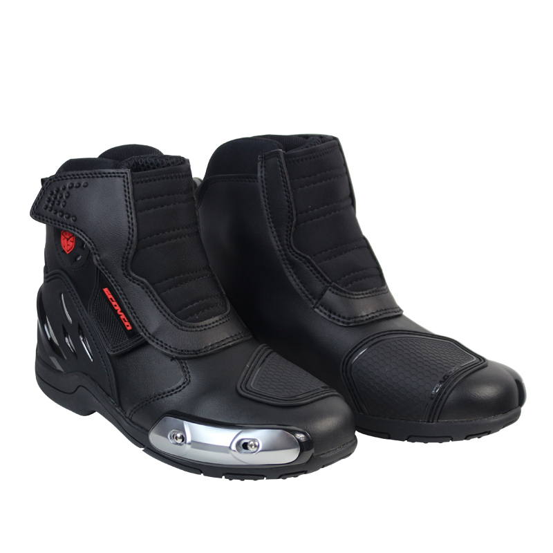 SCOYCO motorcycle boots leather motocross racing shoes men riding boots brand moto Speed MR002