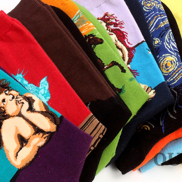 Famous Painting Printed Socks