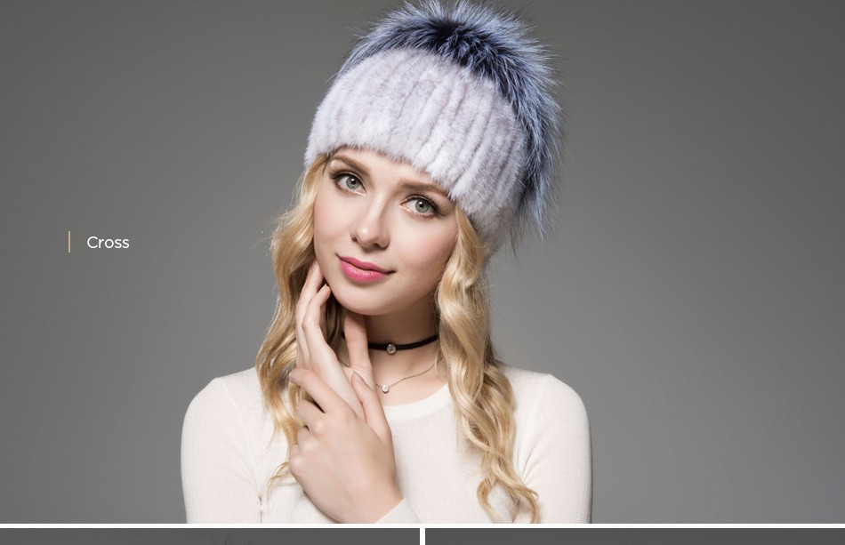 fur woman winter hats PCM012 (10)