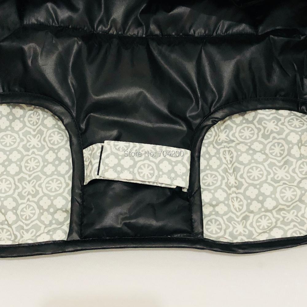 Водонепроницаемый 2-в-1 Детские покрывало для магазиннной тележки& высокое чехлы на стулья с страховочные ремни для перевод& детей ясельного возраста(цвет серый