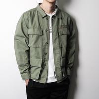 Streetwear Hip Hop Bomber Jacket Men Autumn Army Green Jacket Men Jacket and Coat