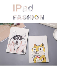 купить Lovely thin Case for Apple iPad Air 1  Auto Wake Up Sleep Flip PU Leather Case Cover With Smart Stand Holder for cartoon iPad 5 по цене 519.75 рублей