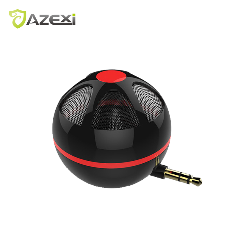 Mobile phone Game Speaker Plug-in sound Mini portable audio 3.5mm AUX Jack Round for Mobile Phone PC Computer Game Speakers Cute
