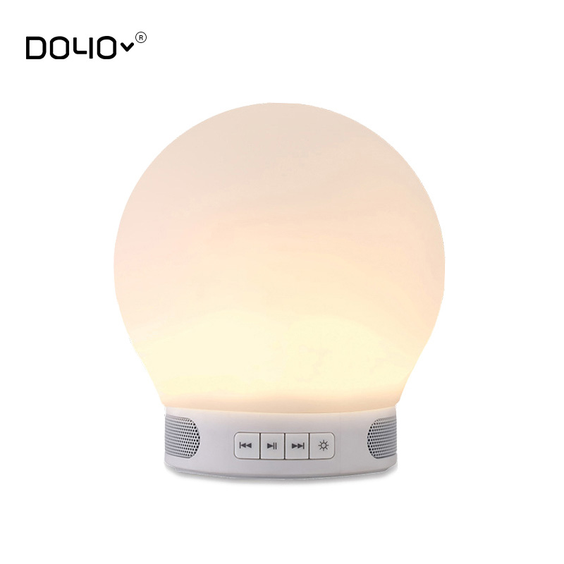 T28 led night light bluetooth speaker tf cardwireless for Led light bulb with built in bluetooth speaker