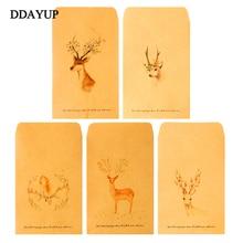 20 Pcs Deer Paper Envelope Designs Cute Mini Envelopes Vintage European Style For Card Scrapbooking Gift