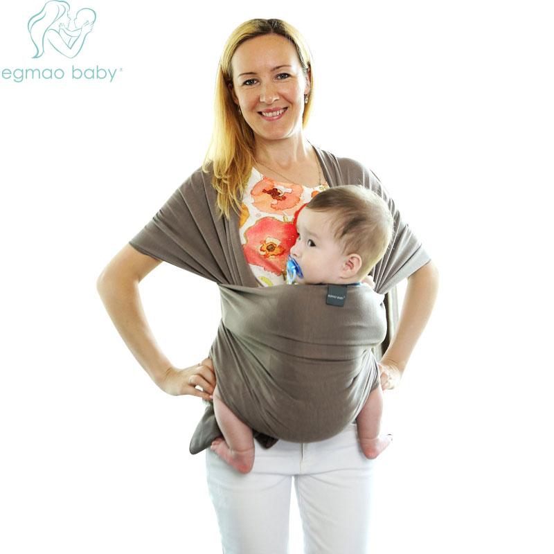 Bébé Sling Stretchy Wrap Carrier Réglable Infantile Confortable Respirant  Bébé Élingues Kangourou Coton Bande Echarpe Porte dans Sacs à dos et Les ... 21c1153c931