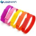 LEIZHAN USB Flash Drive Pen HighSpeed USB Silicone Bracelet Wrist Band 4GB 8GB 16GB 32GB 64DB  Drive Stick U Disk Pendrives gift