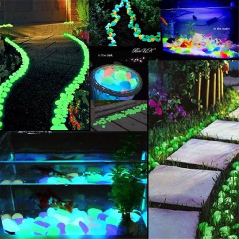 DIY Home Garden Parterre Decor Glow In The Dark Pebbles Stones IL Luminous  Outdoor Fish Tank Home Party Supplies Accessories In Stones From Home U0026  Garden On ...