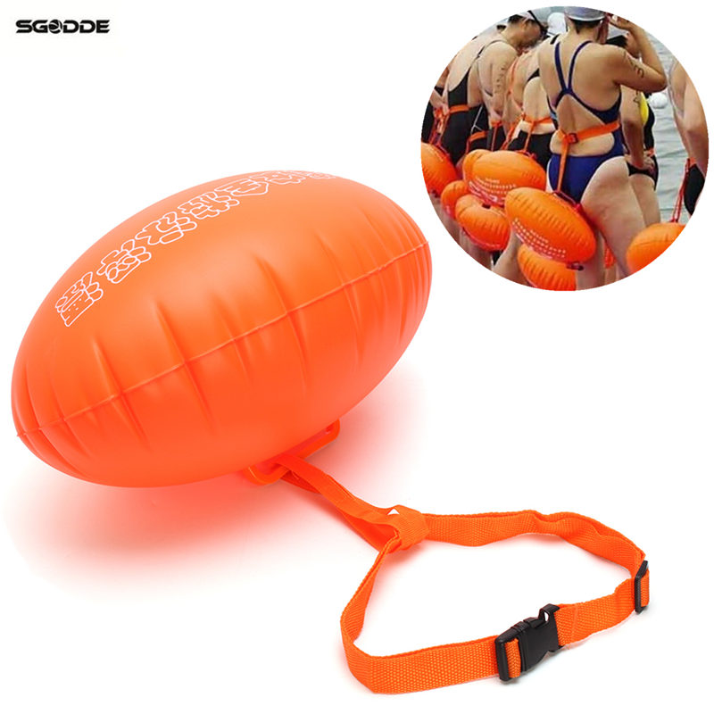 Water Sports Safety Swim Buoy Swim Float Swimming Upset Inflated Device Flotation for Open Water Swimming Pool & Accessories