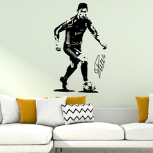Personalized Ronaldo Football Real Madrid Vinyl Wall Stickers Decor Living Room Bedroom Home Party muraux