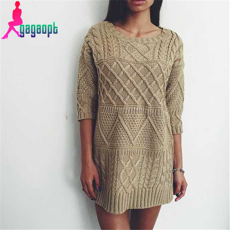 Aliexpress.com : Buy Gagaopt 2015 Solid Women Sweater Half ...